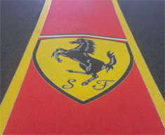 Ferrari Logo Showroom StoneCarpet Floor