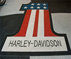 Harley Davidson Showroom StoneCarpet Floor