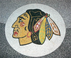 Redskin Logo StoneCarpet Floor